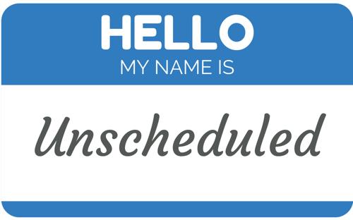Online Restaurant Scheduling Blog: Unscheduled