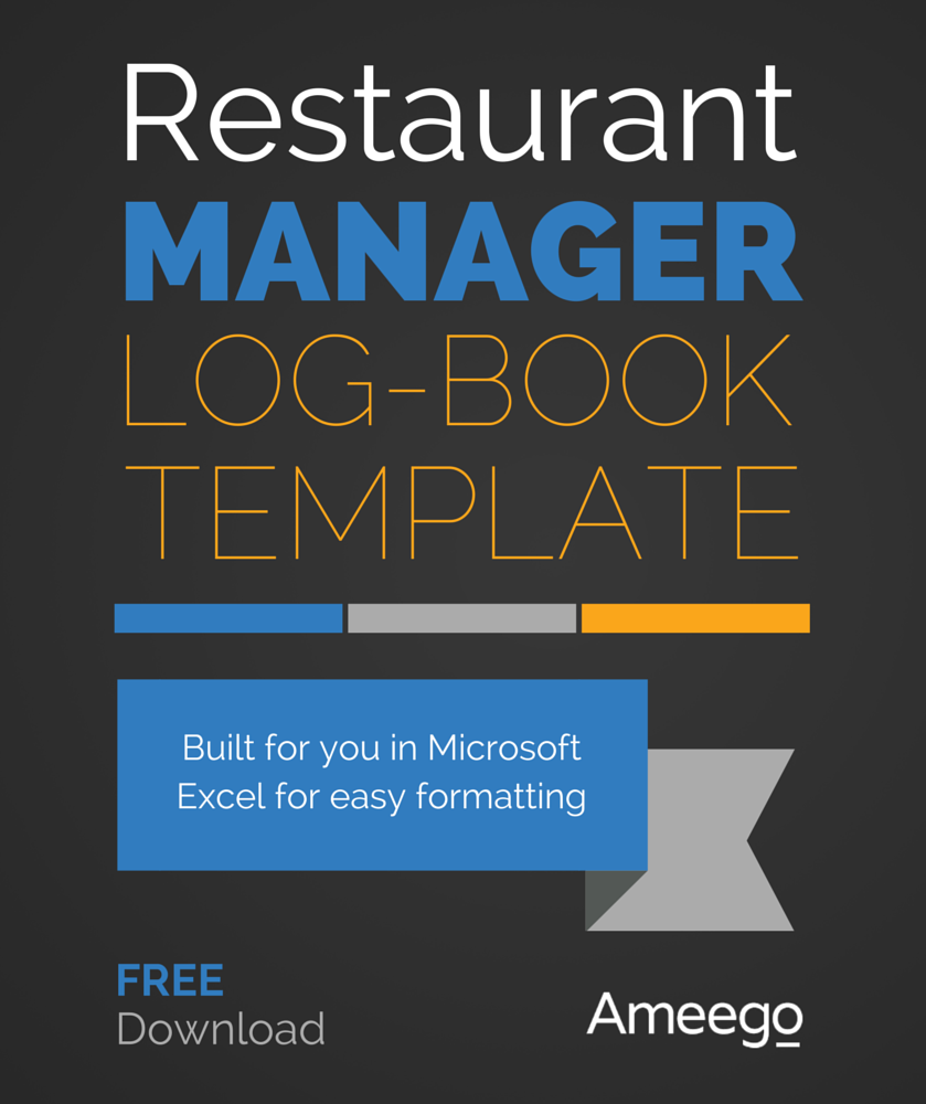 Restaurant Manager Logbook Template