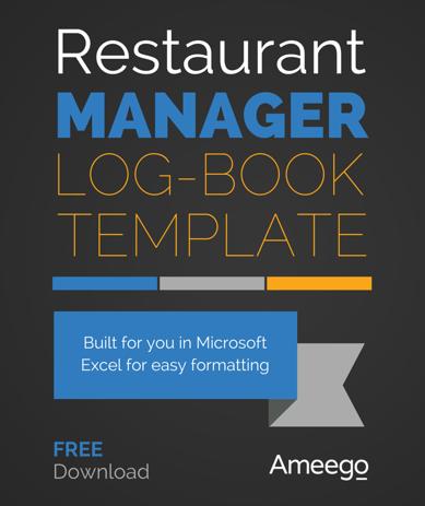 Restaurant Manager Logbook Template